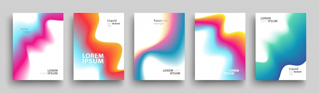 Set of trendy abstract gradient shapes
