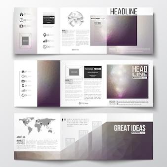 Set of tri-fold brochures