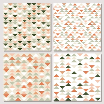 Set of triangle seamless pattern.