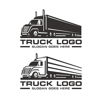 Set of truck logo template