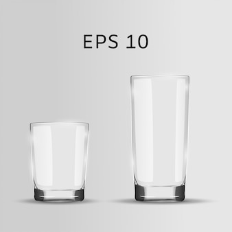 Set of two glasses.