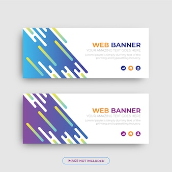 Set of two modern business web banner  template