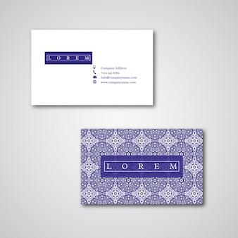 Set of two ornamental floral mandala cards.
