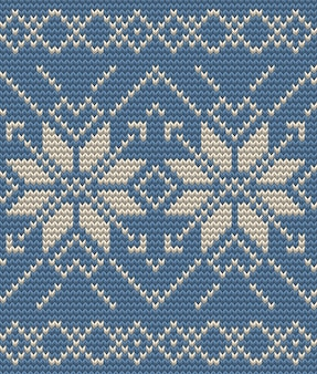 Set of two winter sweater pattern. christmas seamless knitting background. and also includes