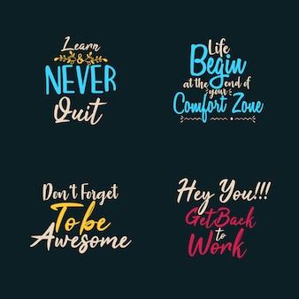 Set of typography
