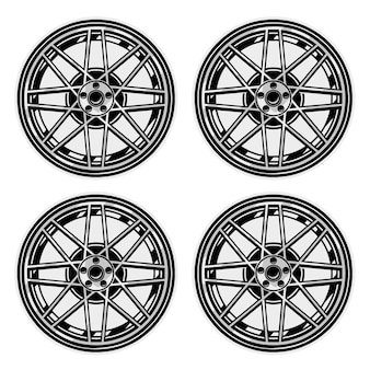Set of tyres wheels