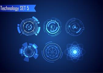 Set UI Futuristic HUD