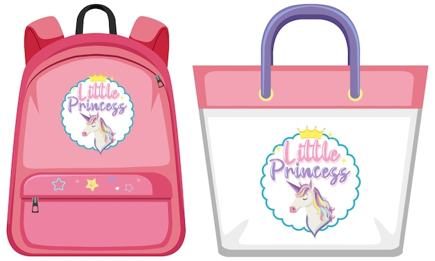Set of unicorn bag