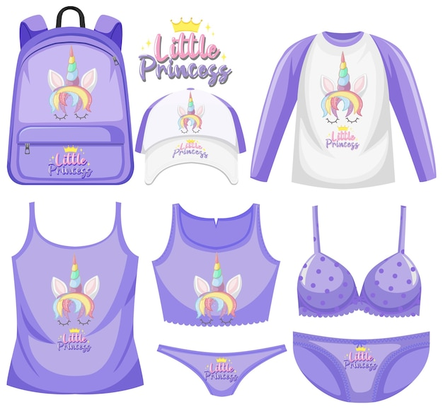 Set unicorn children costume