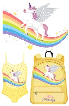 Set of unicorn clothes