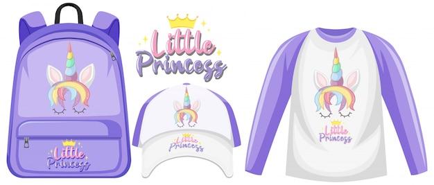 Set of unicorn outfits
