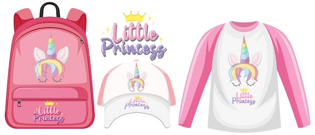 Set of unicorn outfits