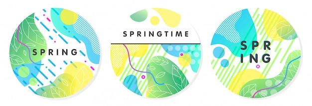 Set of unique spring stikers