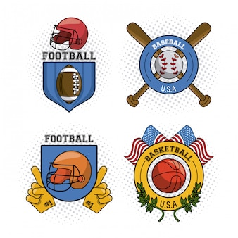 Set of usa emblem
