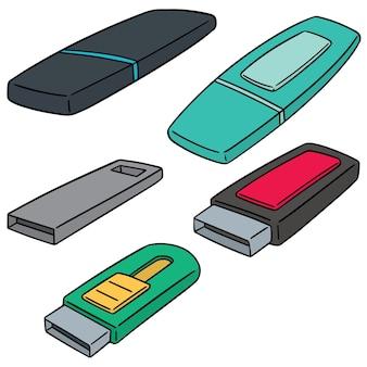 Set of usb flash drive