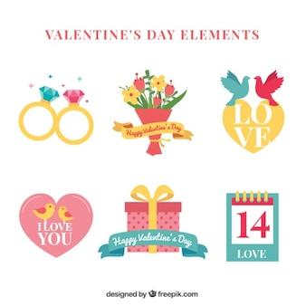 Set of valentine gifts in vintage design