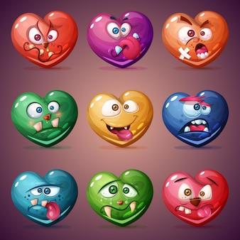 Установите валентина сердце. любовная иллюстрация