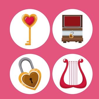 Установите символы дня валентина