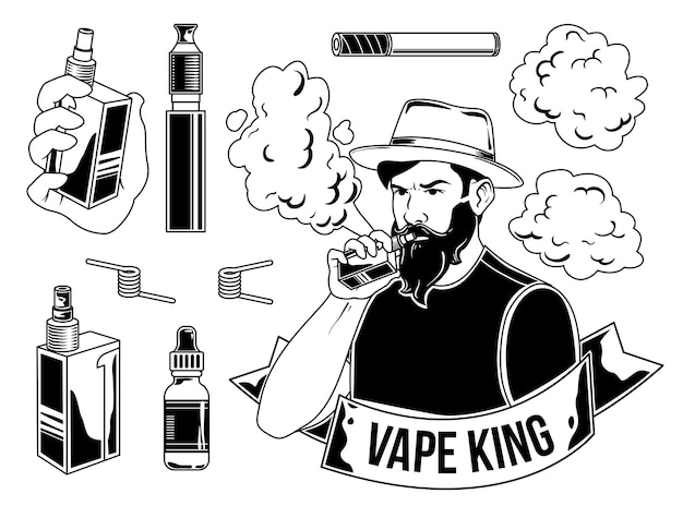 Set of vaper's elements