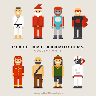 Set of varied video game characters