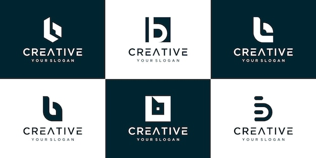 Set of various b logo template design