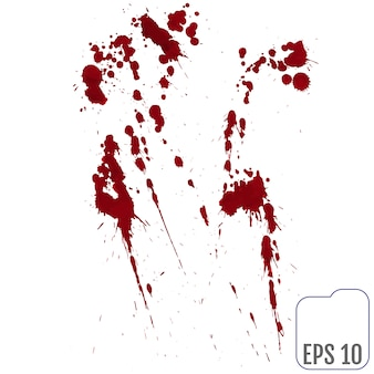 Set of various blood