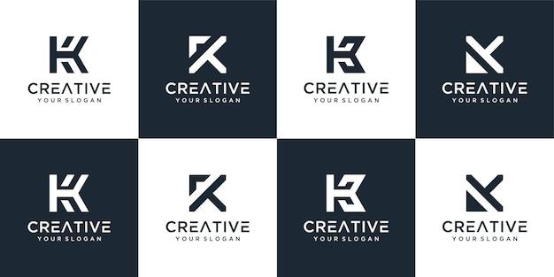 Set of various k logo template