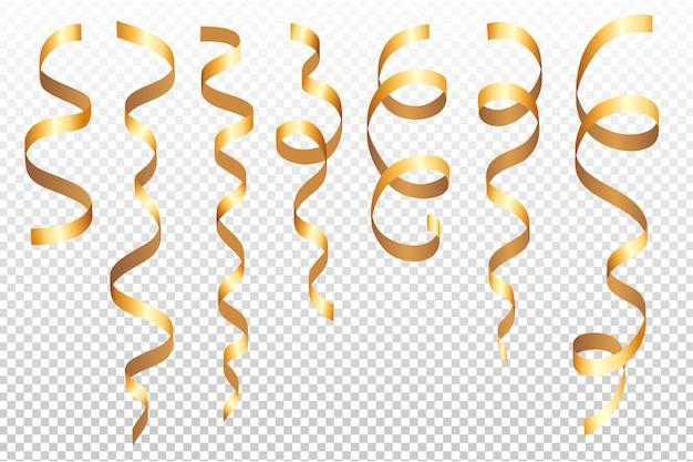 Set of various shiny gold confetti