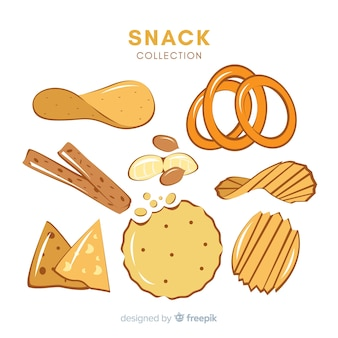 Set of various snacks