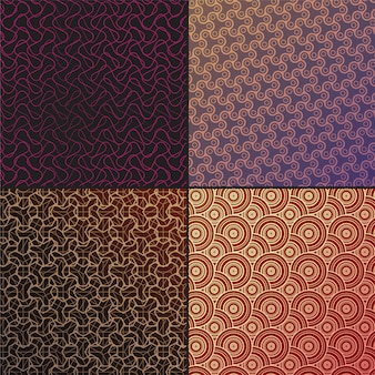 Set vector arabic seamless patterns