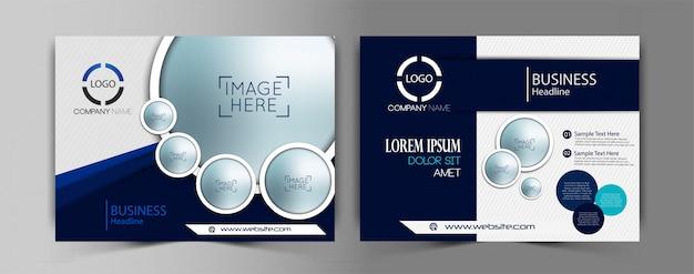 Set of vector business flyer template
