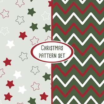 Set of vector christmas vector pattern backgrounds