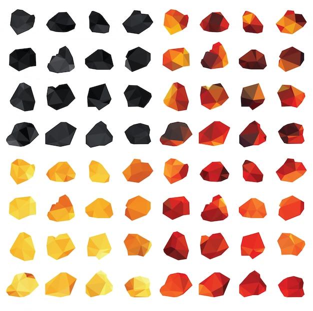 Set of vector coals