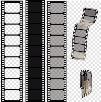 Set of vector film strips vector illustration of  epsstampunk style