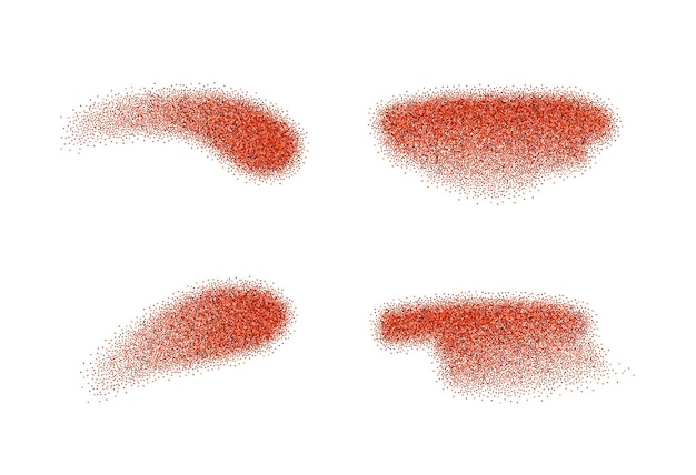 Set of vector ground red pepper elements