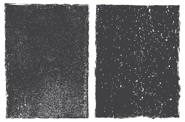 Set of vector grunge frames