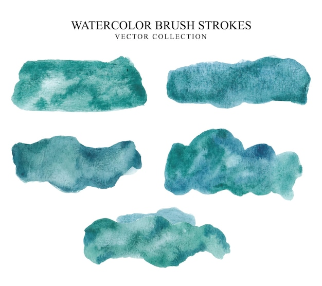 Set of vector hand painted watercolor pink grunge