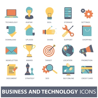 Set vector icons for mobile concepts and web apps