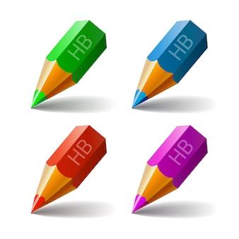Set vector icons pencils