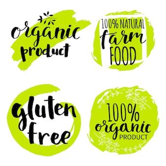 Set of vector illustration eco logos, labels, badges