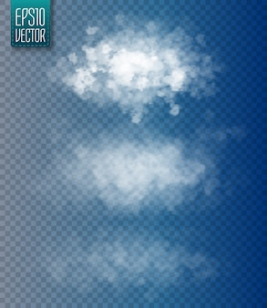 Set of vector isolated clouds.