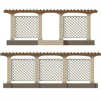 Set of vector pergola