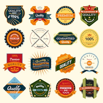 Set of vector stickers and badges
