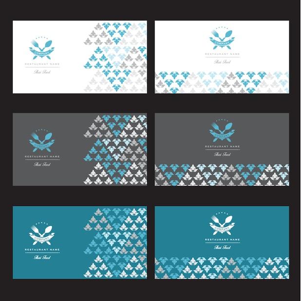 Set of vector thai card templates