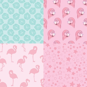 Set of vector wallpapers set of seamless patterns