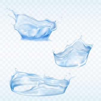 Set of vector water splashes