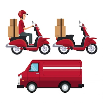 Set vehicles of transport fast delivery