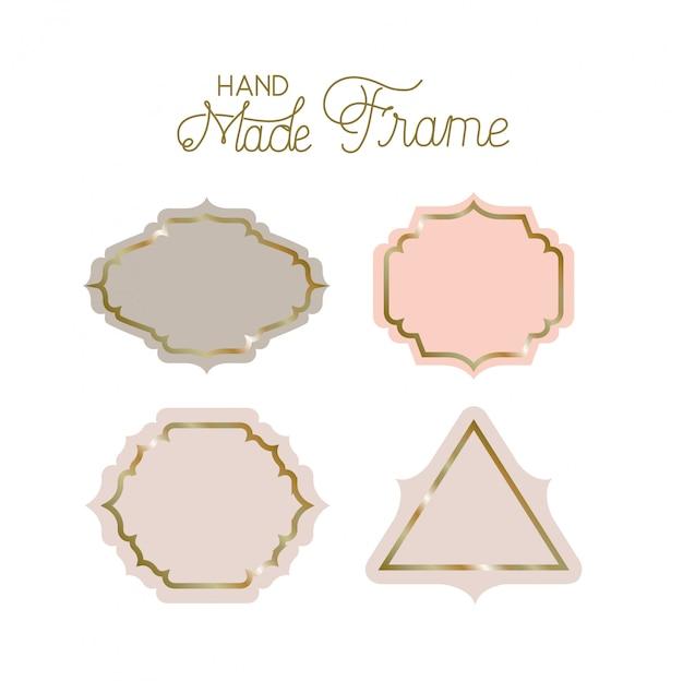Set of victorian hand made frames