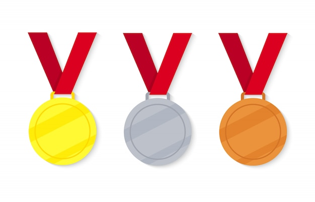 Set of victory medals