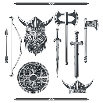 Set of viking's elements